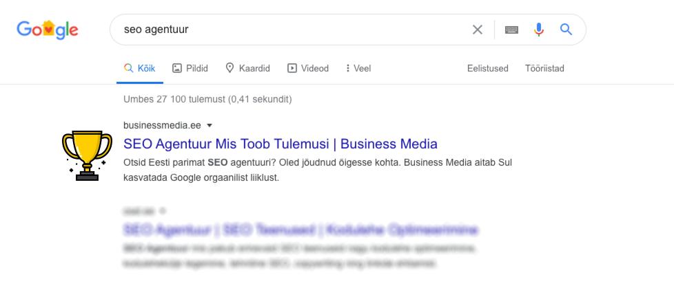 eesti parim seo agentuur